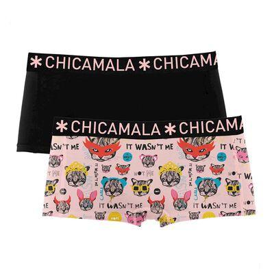Foto van Chicamala GIRLS 2 pack BOXERSHORT CCAT1215-01J