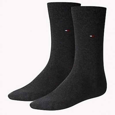Foto van Tommy Hilfiger 2 pack heren sokken 371111 030 anthracite