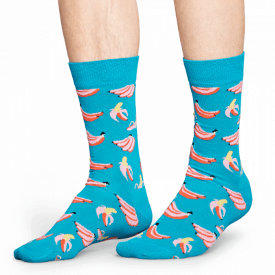 Foto van Happy socks BAN01-6000 Banana Sock