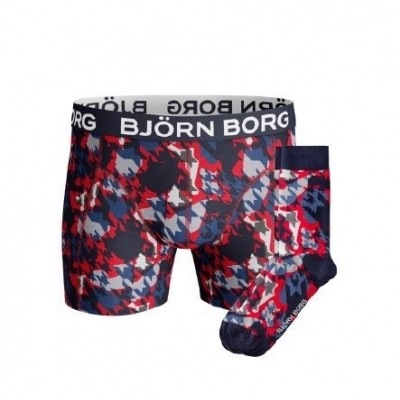 Foto van Björn Borg Socks & Short for him giftbox HOUNDTOOTH XMAS_BOX 1741-1423