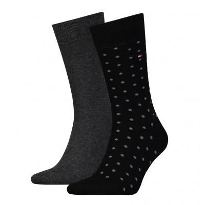 Foto van Tommy Hilfiger 2 pack heren sokken DOTTED 382012001 200 Black