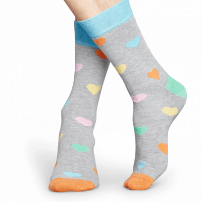 Foto van Happy socks HEA01-9005 Heart Sock