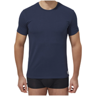 Foto van Calvin Klein U8509A 2 pack crew neck t-shirts blue shadow/blauw