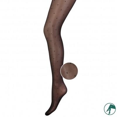 Foto van Marianne feest panty luxury zwart met zilveren stipjes art.30009