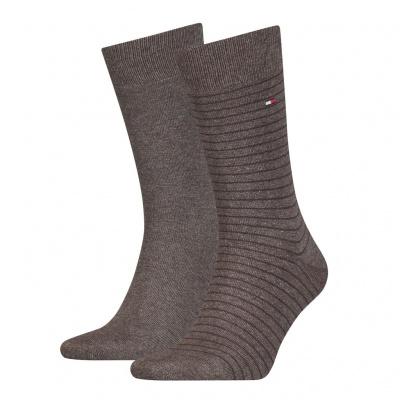 Foto van Tommy Hilfiger 2 pack heren sokken 100001496 778 OAK