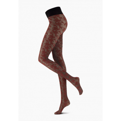 Foto van Oroblu BICOLOR LACE BLACK/REDWOOD