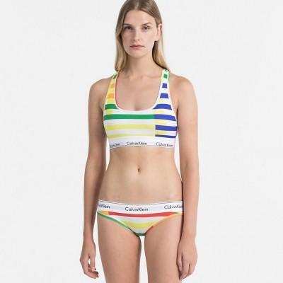 Foto van Calvin Klein string modern cotton QF4616E-1ZM Multi stripe