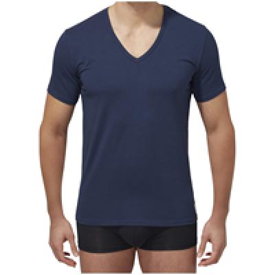 Foto van Calvin Klein U8511A 2 pack t-shirt V hals blue shadow