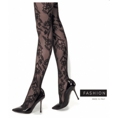 Foto van Marc Marcs fashion panty MM FLOWER rank 87337 black
