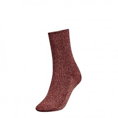 Foto van Tommy Hilfiger glitter sock womens 383016001 bordeaux
