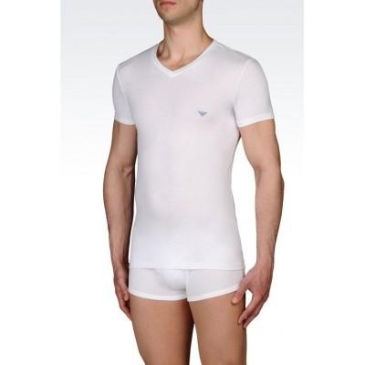 Foto van Armani V neck t-shirt 110752 cc518 wit