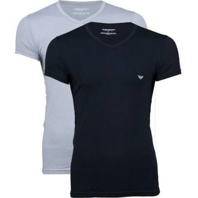 Foto van Armani V neck t-shirt 110810 CC729 zwart
