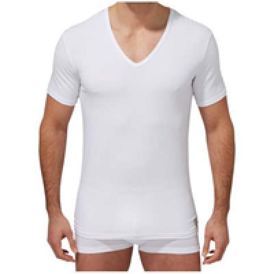 Foto van Calvin Klein U8511A 2 pack t-shirt V hals wit