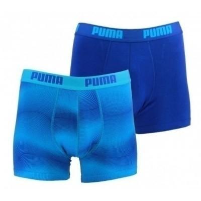 Foto van Puma 2 pack boxers 561002001 491 BLUE JEWEL