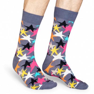 Foto van Happy socks STARS Sock STA01 grijs