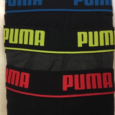 Foto van Puma 3 pack boxer heren 671031001 628 red/yellow/blue