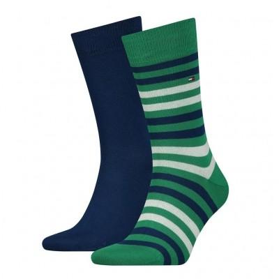 Tommy Hilfiger 2 pack heren sokken 472001001 014 green/white