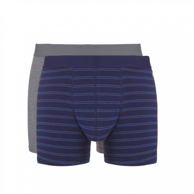 Foto van Ten Cate 2 pack shorts art.nr.305641-006 grey-navy-stripe