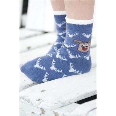 Foto van Bonnie Doon cotton sock BN751152 Rudolph Sock maat 23/36