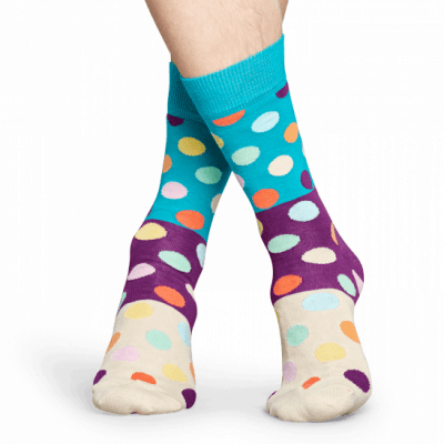 Happy socks BDB01-6001 Big Dot Block Sock