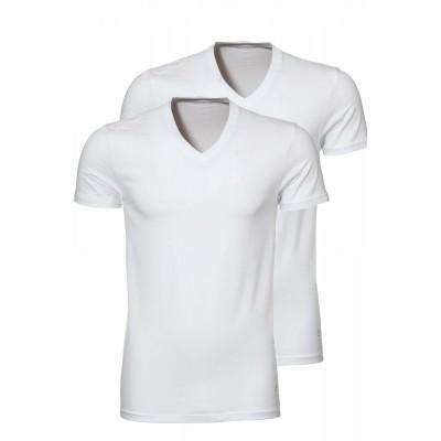 Foto van Ten Cate Men T-shirt 2 pack V hals wit