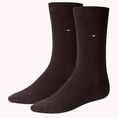 Foto van Tommy Hilfiger 2 pack heren sokken 371111 937 brown
