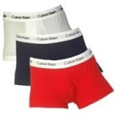 Foto van Calvin Klein 0000U2664G 3 pack boxers white/red ginger/pyro blue