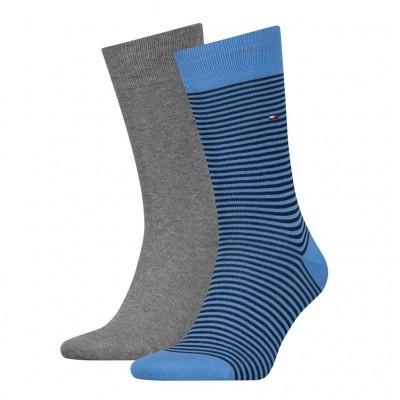 Foto van Tommy Hilfiger 2 pack heren sokken 342029001 017 palace blue