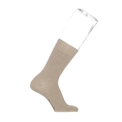 Foto van Bonnie Doon cotton sock BD 632401 taupe heather