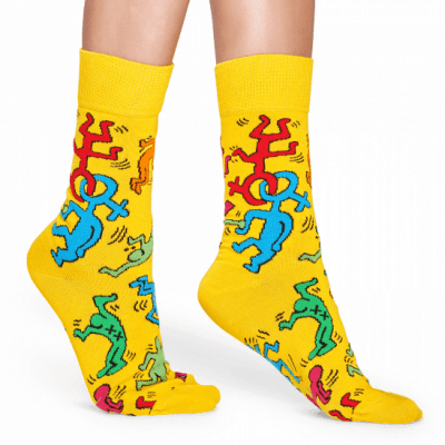 Foto van Happy socks KEH01-2000 Keith Haring All Over Sock