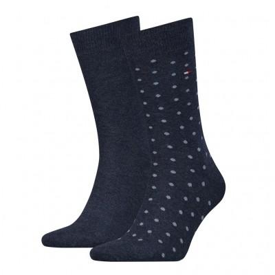 Tommy Hilfiger 2 pack heren sokken DOTTED 382012001 356 Jeans