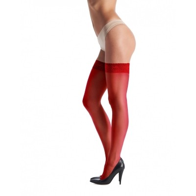 Foto van Oroblu chic up 15 rouge (rood) en crystal grey
