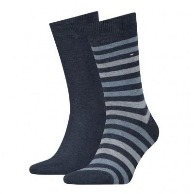 Tommy Hilfiger 2 pack heren sokken 472001001 356 jeans