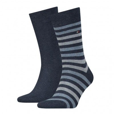 Foto van Tommy Hilfiger 2 pack heren sokken 472001001 356 jeans