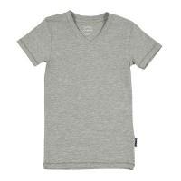 Foto van Claesens V-neck T-shirt Grey Melee