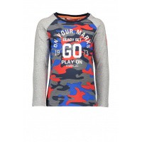 Foto van T&v t-shirt LS combi AOP - solid ON YOUR MARKS GO