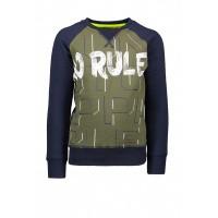 Foto van T&v sweater combi panel / stripes NO RULES