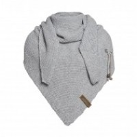 Foto van Knit factory Coco shawl in Light Grey
