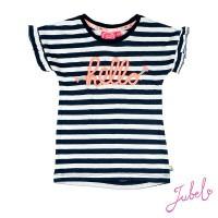 Foto van T-shirt streep - Botanic Blush