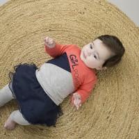 Foto van Dirkje 2 pce babysuit skirt/legging