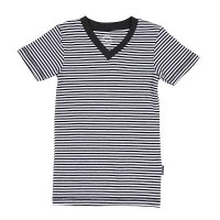 Foto van Claesens V-neck T-shirt Navy Stripes