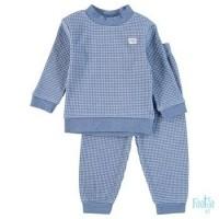 Foto van Feetje Pyjama Wafel Blauw melange