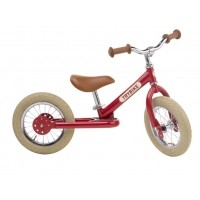 Foto van Trybike Steel Vintage Red twee en/of driewieler