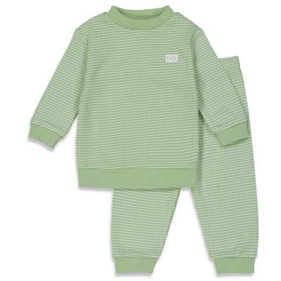 Feetje Pyjama wafel Groen