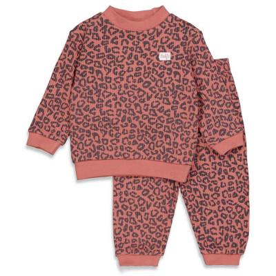 Feetje Pyjama Wafel Terra Pink