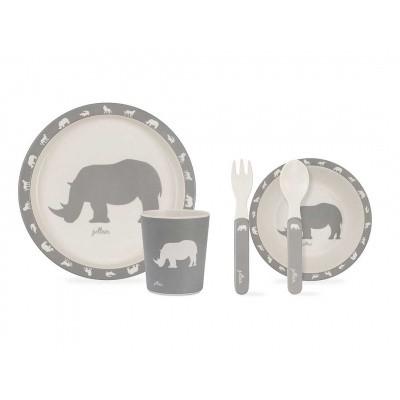 Jollein Dinerset Safari Stone Grey