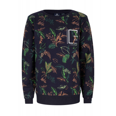 INDIAN BLUE JEANS CREWNECK ALL OVER LEAVES