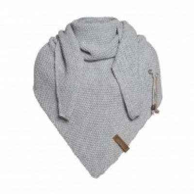 Knit factory Coco shawl in Light Grey
