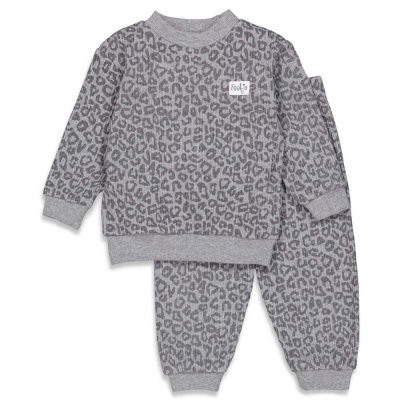 Feetje Pyjama Wafel Antraciet Melange