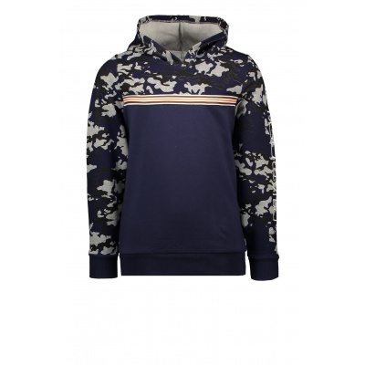 T&v Hoody with contrast camo